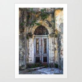 Derelict Doorway Art Print