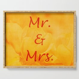 Mr. and Mrs. Serving Tray