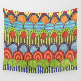 bright scalloped pattern 2 Wall Tapestry
