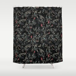 Wolf Pack Pattern Shower Curtain
