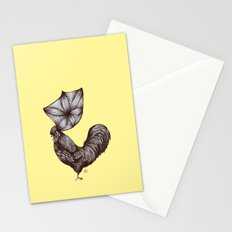 Hen's 3D hair Stationery Cards