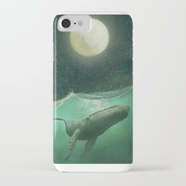 The Whale & The Moon iPhone Case
