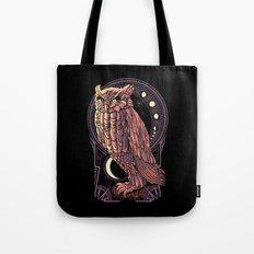 Owl Nouveau Tote Bag