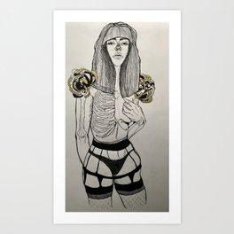 Mourning Lingerie Art Print
