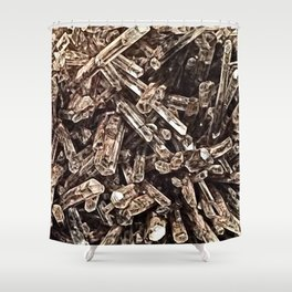 Mexican Gypsum Filtered Shower Curtain