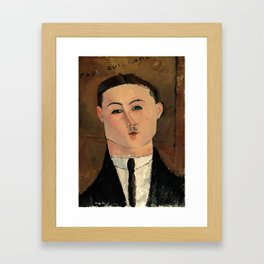 "Amedeo Modigliani ""Paul Guillaume"" Framed Art Print"