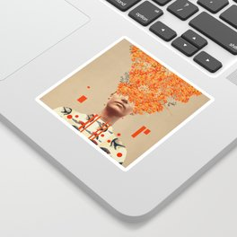 Bird Flight in Autumn Sticker