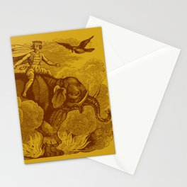 The Occult Golden Elephant Stationery Cards