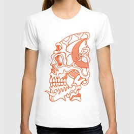 Orange death mask T-shirt