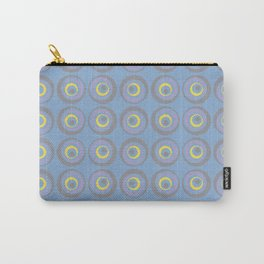 Geometric Wacky Circle Pattern V16 Color of the Year 2021 Illuminating Yellow and Accent Shades Carry-All Pouch