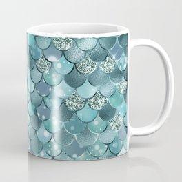Mermaid Scales Aqua Turquoise Mermaid Pattern Coffee Mug