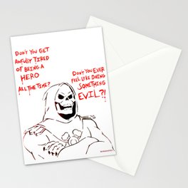 Villainous Musings by MrMAHAFEY Stationery Cards