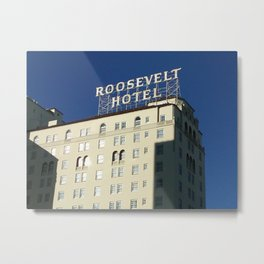 Hollywood Roosevelt Metal Print