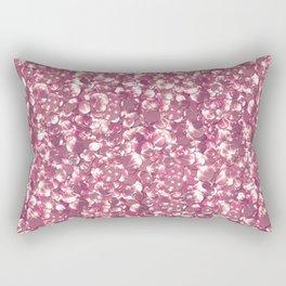 Pink confetti. Festive design. Rectangular Pillow