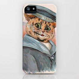 Sailor Cat - Louis Wain Cats iPhone Case