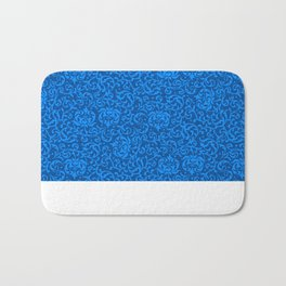 Blue Tudor Damask Bath Mat
