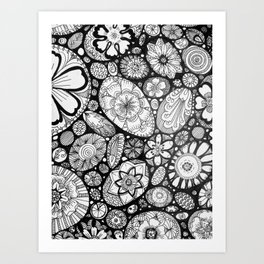 Stone doodle Art Print
