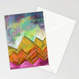 Autumn Mountain Peaks Stationery Cards