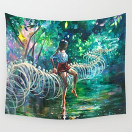 Dopamine Jungle Wall Tapestry