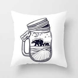 jar and northern bear. Mount Everest. Throw Pillow