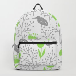 KiwiGarden - green and gray Backpack