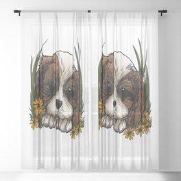 Puppy Sheer Curtain