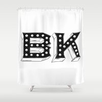 brooklyn Shower Curtains featuring Brooklyn by Kelsey Dake