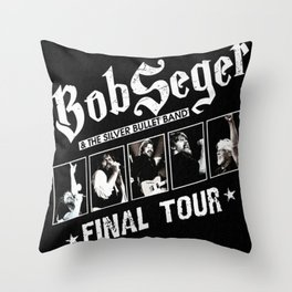 bob seger tour 2020 ansel6 Throw Pillow