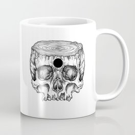 Skull/Wood Coffee Mug
