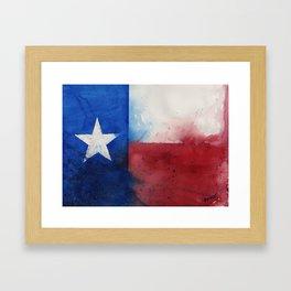 Flag of Texas Framed Art Print