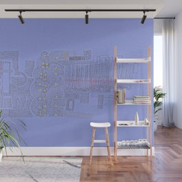 Stitches: City lines Wall Mural