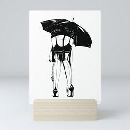 Chuva na Rua Augusta Mini Art Print