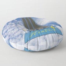 In Heaven - Au Ciel Floor Pillow