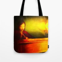 my mad fat diary Tote Bags featuring Dear Diary by DigitalAndPhoto
