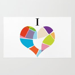 I Heart Coloria Rug