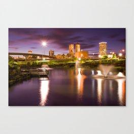 Tulsa Lights - Centennial Park View Canvas Print