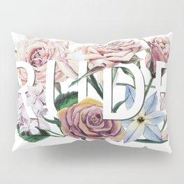 Floral Rude Pillow Sham
