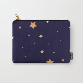 Golden stars on dark blue background Carry-All Pouch