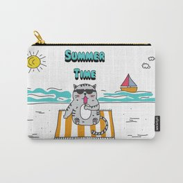 Summer Time Ice Cream Cat Carry-All Pouch