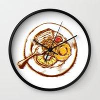 dessert Wall Clocks featuring Dessert by EGARCIGU
