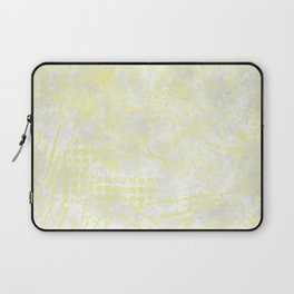 Abstract Overlay-Yellow,Gray and White Laptop Sleeve