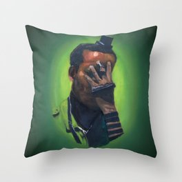 Untitled (soldier, green) Throw Pillow