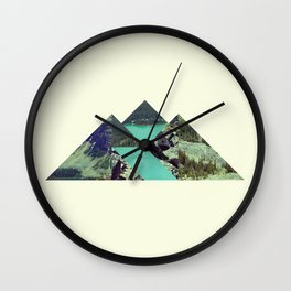 Mountain Lake Wall Clock