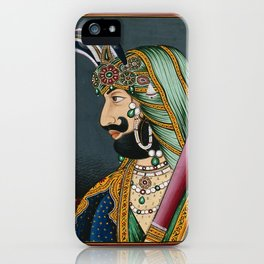A Hindu raja. Painting by an Indian artist, 1800s. iPhone Case