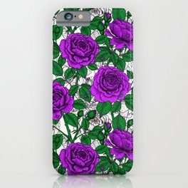 Purple roses 2 iPhone Case