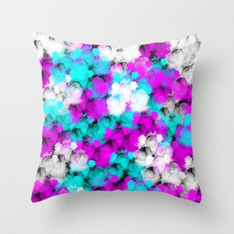 A Pretty Bed of Rose Petals Throw Pillow