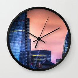 London afterglow Wall Clock