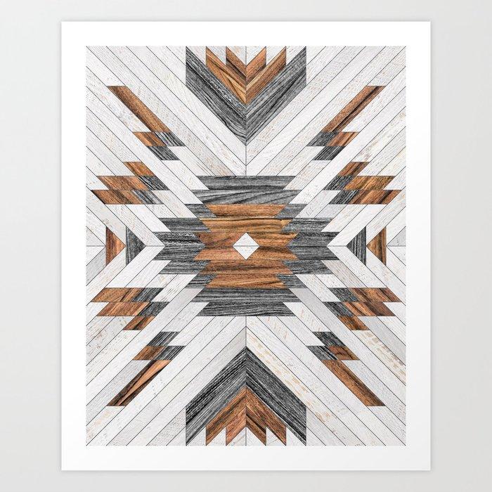 Urban Tribal Pattern No.8 - Aztec - Wood Kunstdrucke
