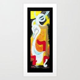 Space Swan Art Print