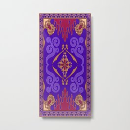 Aladdin Purple Magic Carpet Metal Print